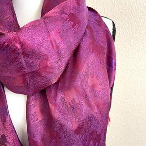 NWOT Beautiful 100% Silk Large Scarf